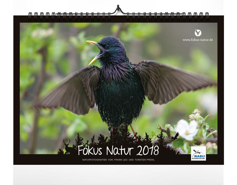 kalender, 2018, naturkalender, fokus-natur, kalender 2018